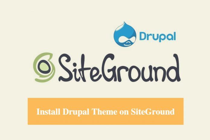 SiteGround Install Drupal Theme