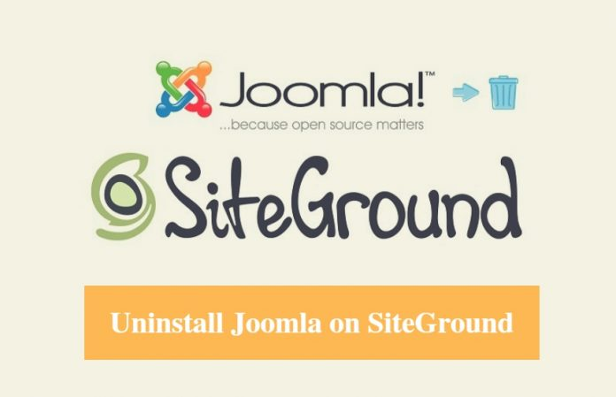 SiteGround Uninstall Joomla