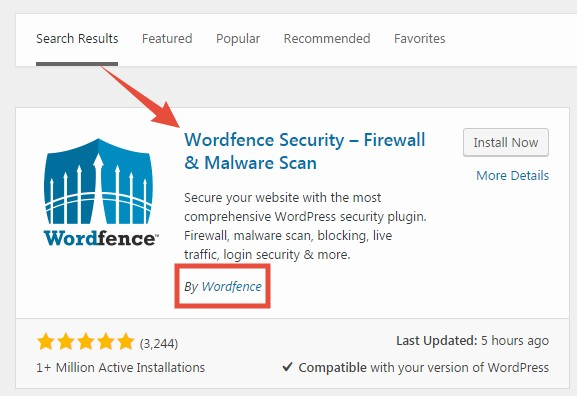 'Wordfence Security Firewall' plugin