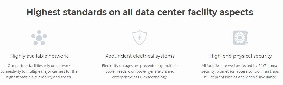 Quality of the Data Centers of SiteGround