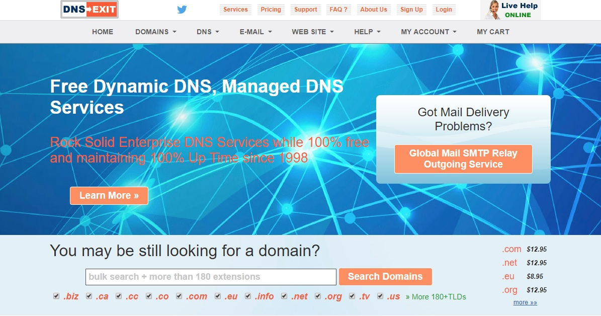 DNSExit Homepage