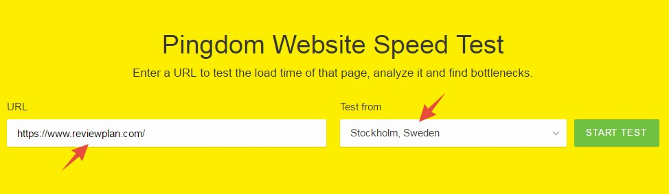 Test using the Swedish server of Pingdom
