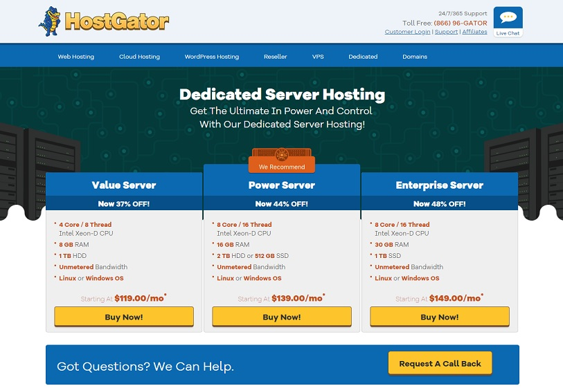 HostGator Dedicated Hosting Review