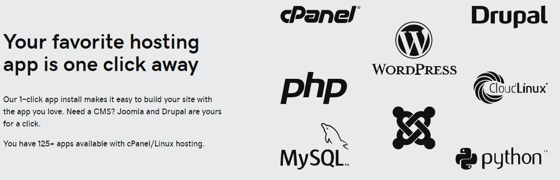 Great for hosting most of the popular web apps
