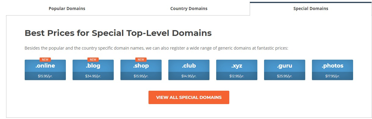 Special Domains