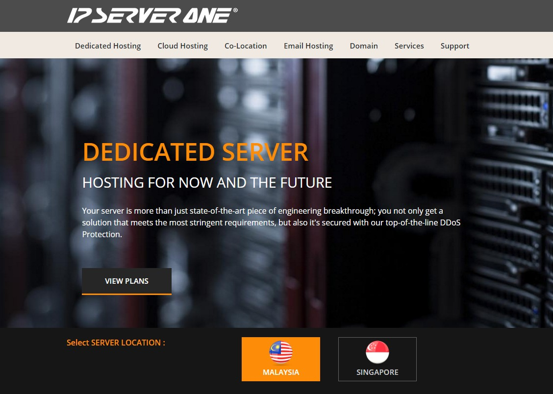 IP ServerOne Dedicated Web hosting Malayisa