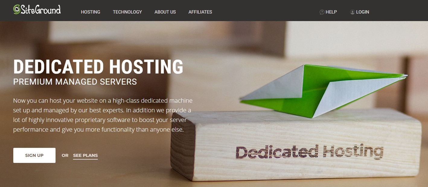 SiteGround Dedicated Web hosting