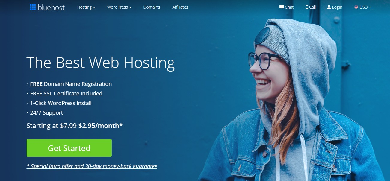 Bluehost eCommerce web hosting