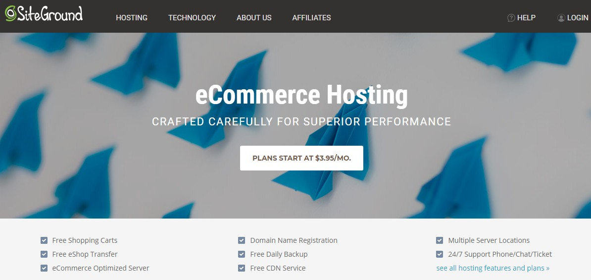 SiteGround eCommerce Web Hosting