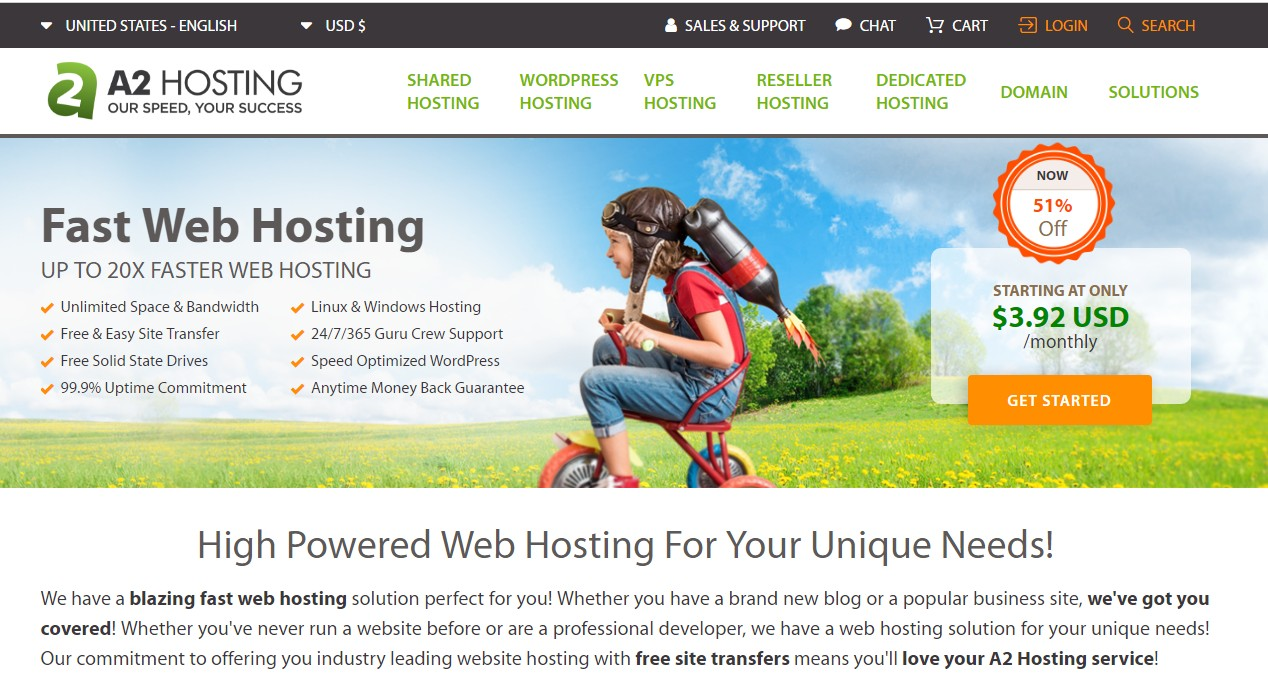 HostGator alternative A2 Hosting