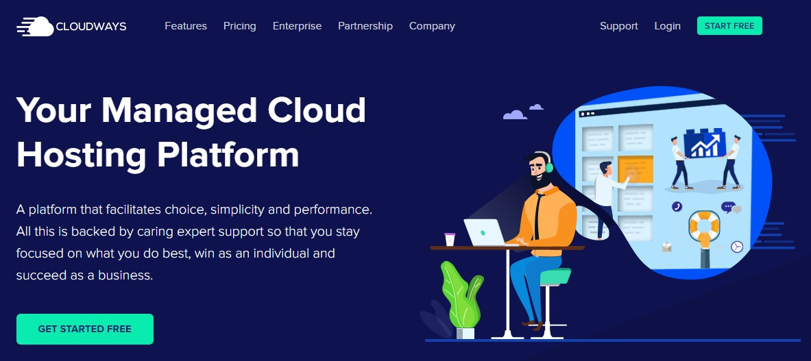 DreamHost alternative Cloudways