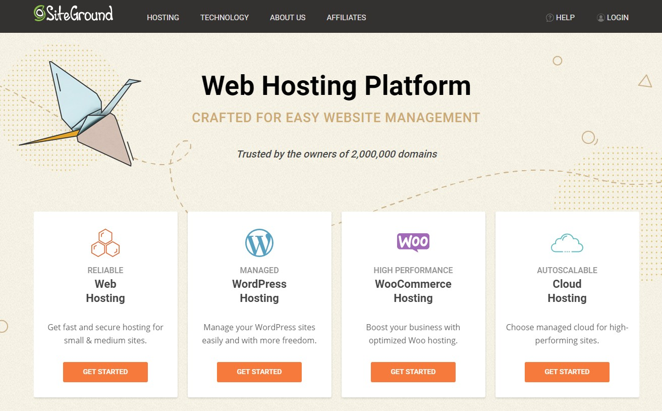 DreamHost alternative SiteGround