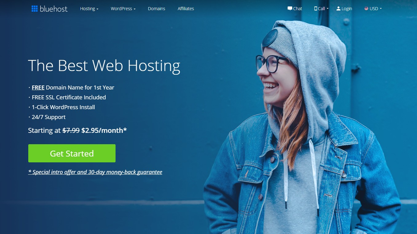 Best Web Hosting for artists Bluehost