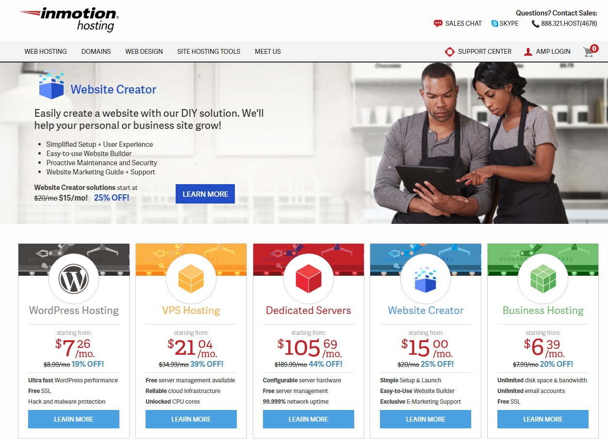 Best Web Hosting for artists InMotion Hosting