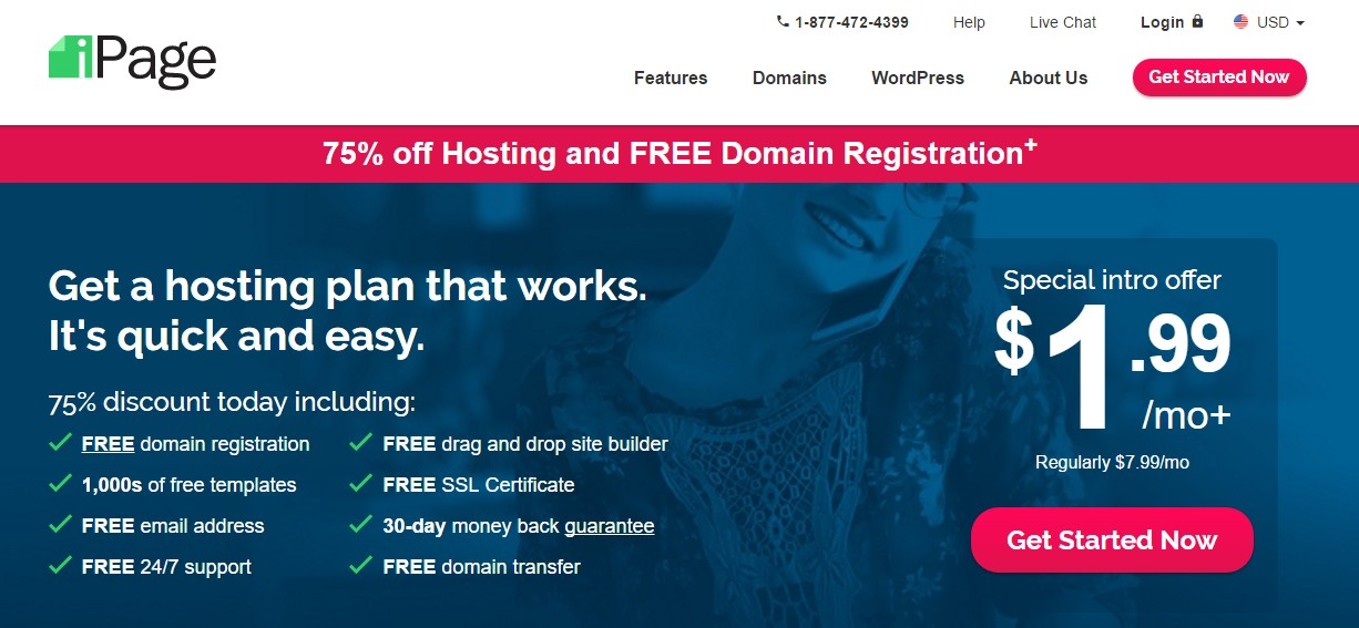 Best Web Hosting for artists iPage