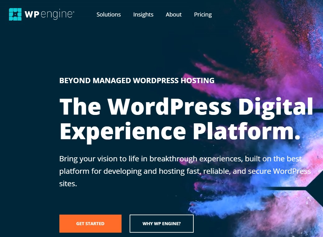 Best Web Hosting for artists WP Engine