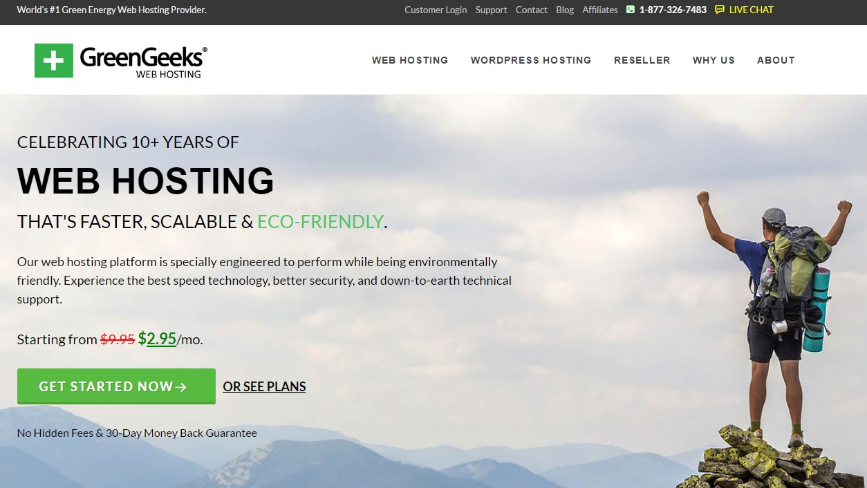 Best Web hosting for Personal Sites GreenGeeks