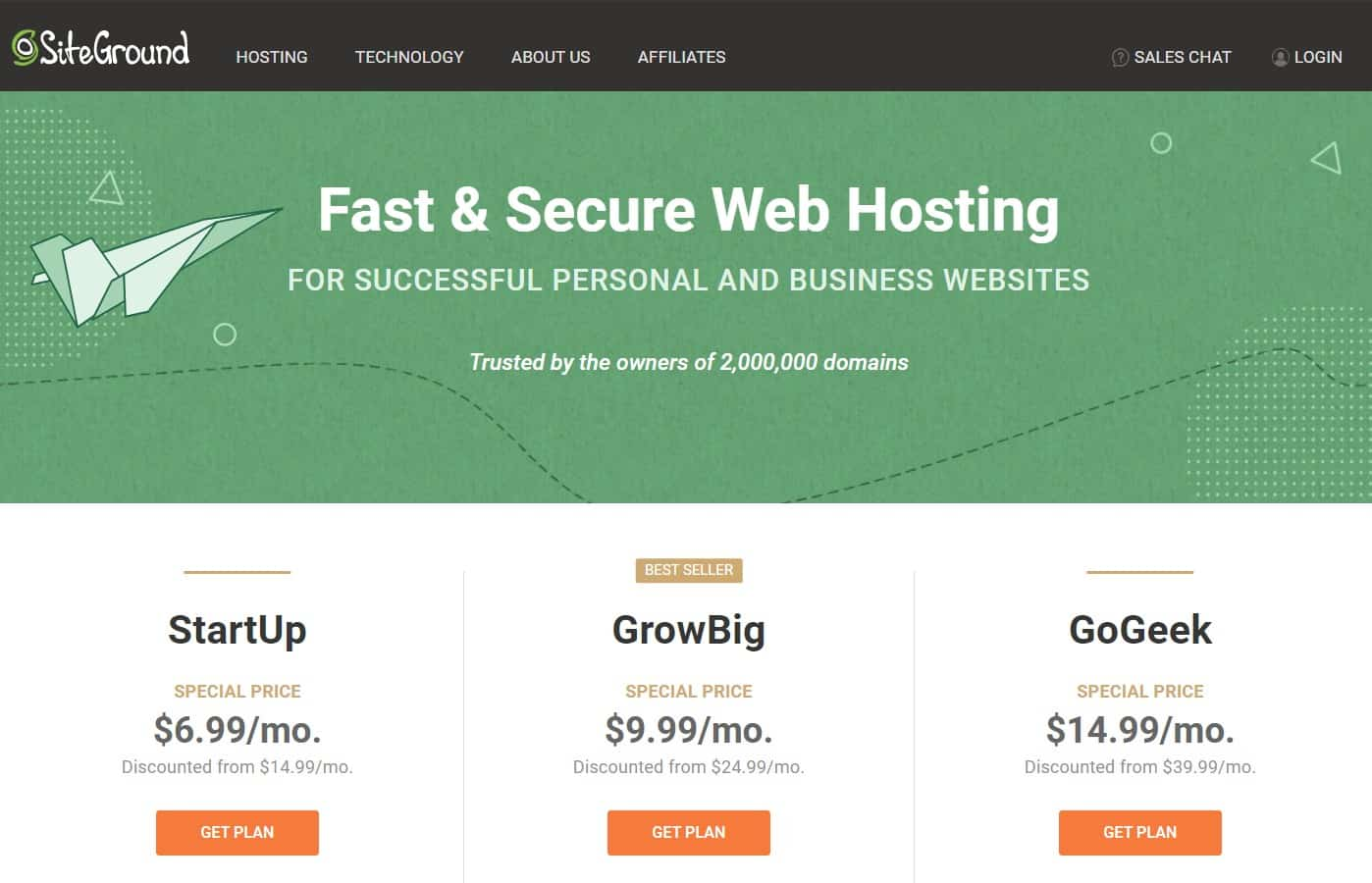 Cloud VS web hosting in Malaysia-SiteGround Web host
