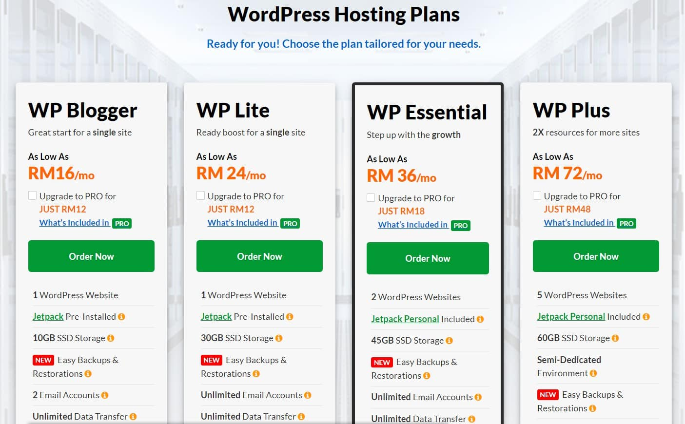 Web Hosting vs WordPress Hosting For Malaysia Web Hosting: Exabytes WP Hosting