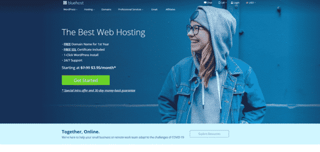 bluehost best malaysia web hosting for blogs