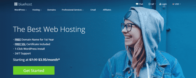 bluehost best malaysia web hosting with database