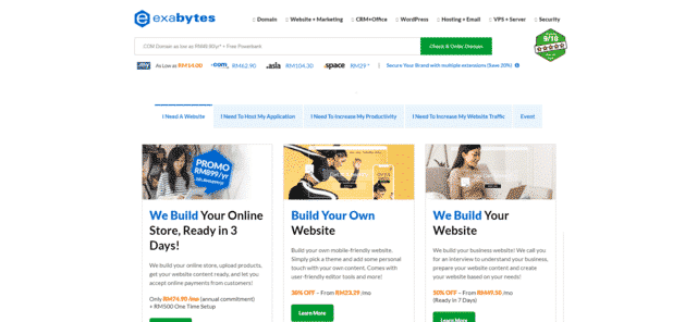 exabytes best malaysia maxis web hosting alternatives