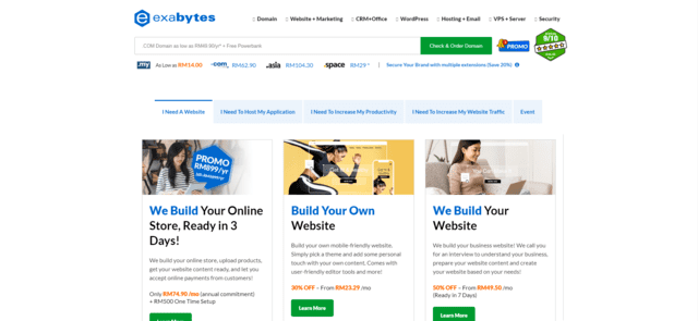 exabytes best malaysia web hosting with cPanel