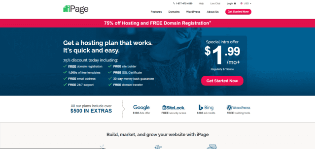 ipage best malaysia wix web hosting alternatives