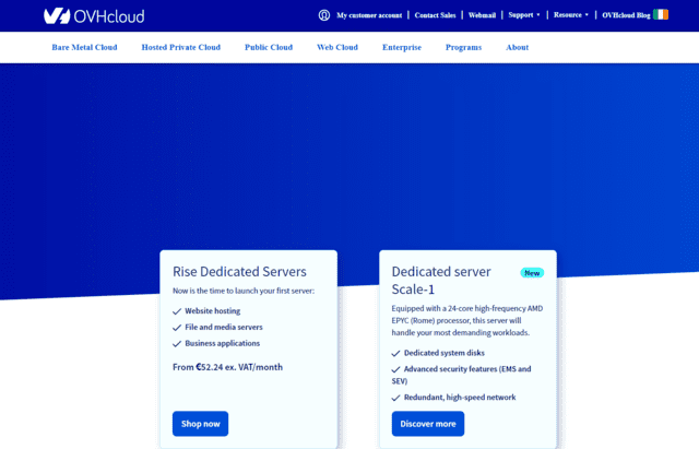 OVH cheap web hosting ireland