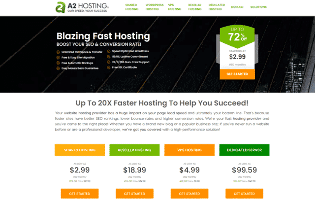 a2hosting cheap web hosting ireland