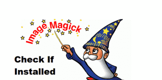 check if imagemagick is installed