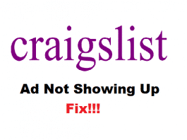 craigslist ad not showing up