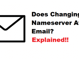 does changing nameserver affect email