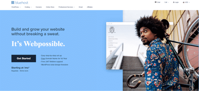 bluehost free web hosting south africa